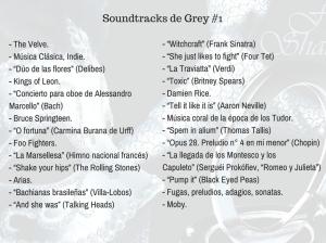 Soundtracks de grey libro 1