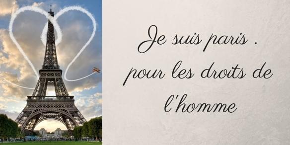 Je suis paris . pour les droits de l'homme