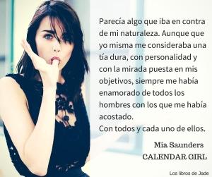 Calendar girl imagen Mia saunders
